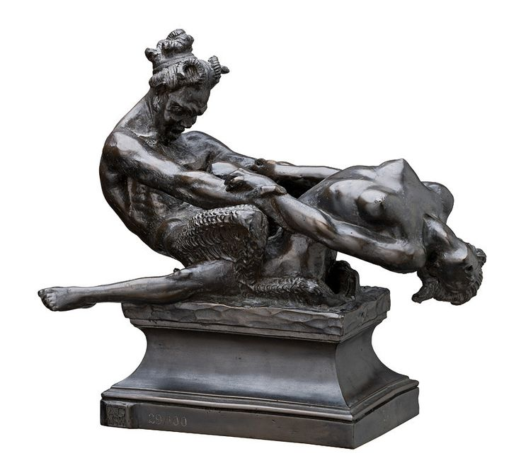 Faun & nymph / Rayner Hoff / 1924 (currently at NGV Melbourne)