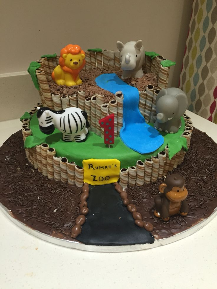Best 25 Zoo Cake Ideas On Pinterest Zoo Birthday Cake