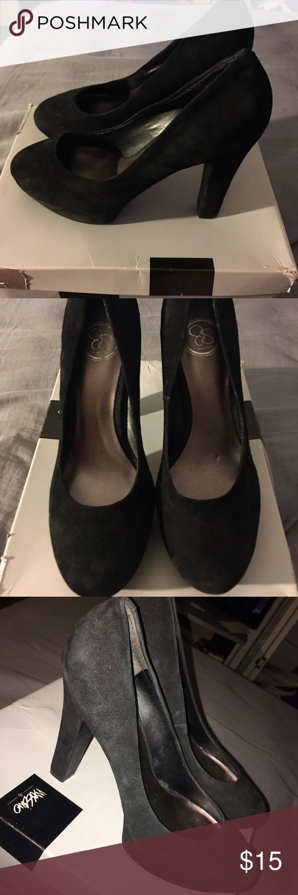 Jessica Simpson heels Jessica Simpson heels. Size 10. They have scuffs from storage. Jessica Simpson Shoes Heels