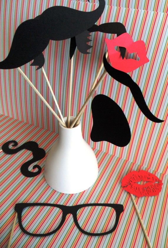 Photo Prop Party Package Props.  So affordable and fun for a children's birthday party activity! $15.99