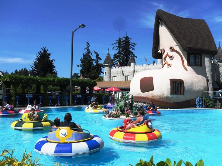 Bumper Boats at Paradise Fun Park, Parksville BC