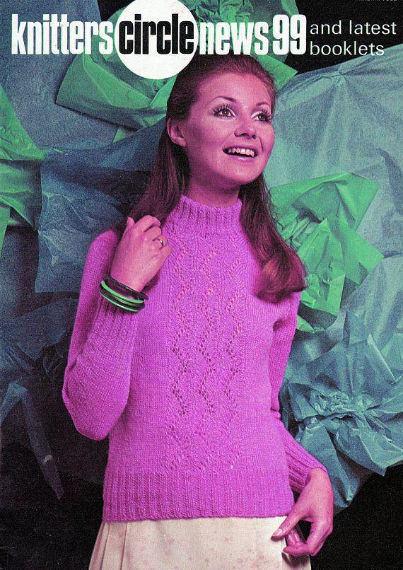 PDF Vintage Womens Ladies Knitting Pattern 1960s Patons