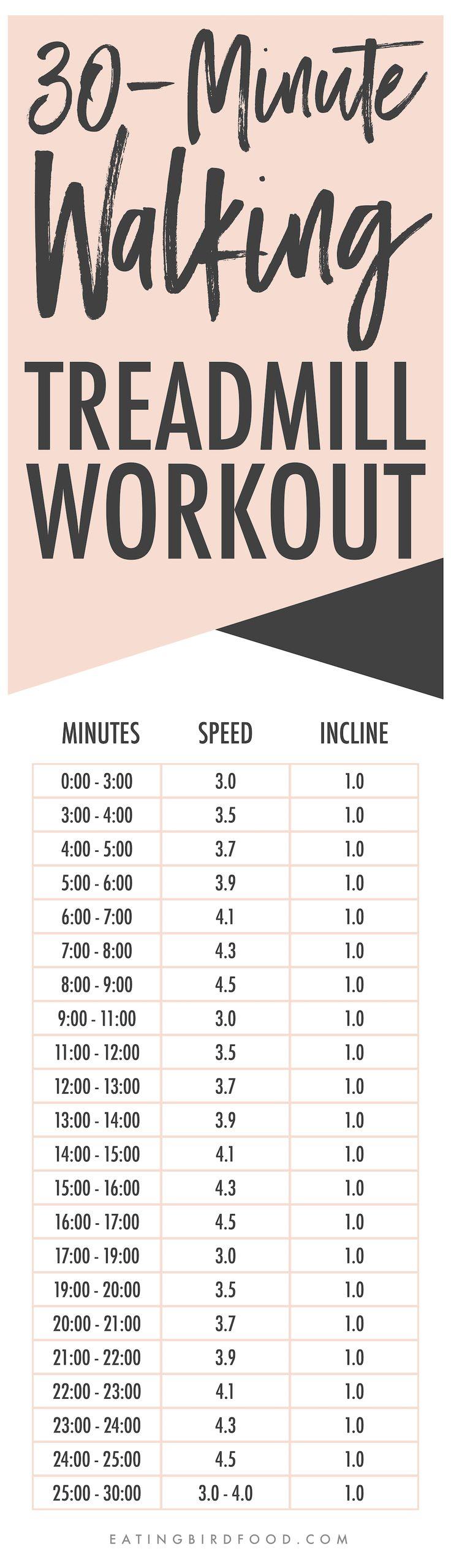 30-Minute Treadmill Workout Jog/Run/Walk - Eating Bird Food