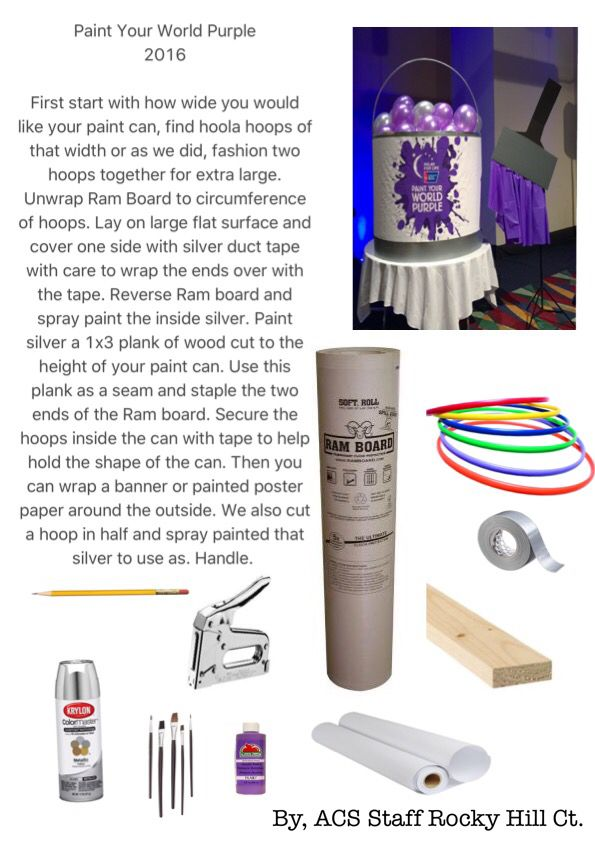 Paint Your World Purple Relay I Am So In Love With This Kudos To The Acs Staff Of Rocky Hill It Pinterest For Life