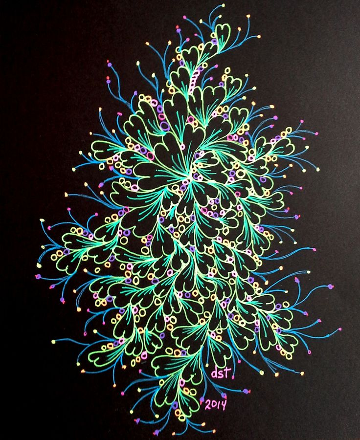 #Sakura Moonlight pens on black paper