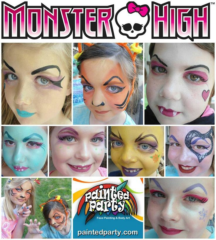 Monster high face paint (they need some of the boys on here too!)