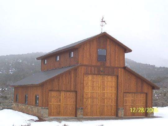 44 best pole barns images on pinterest garage ad home Apartment barn plans