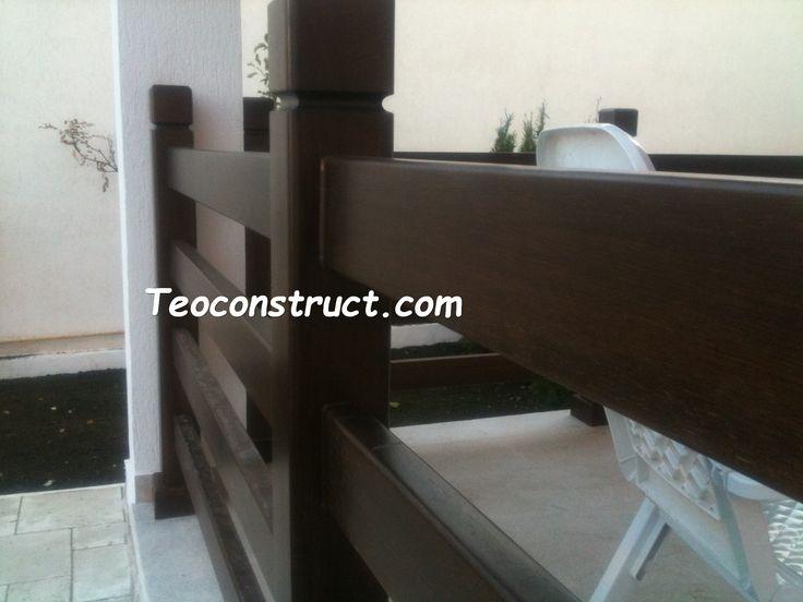 Balustrade din lemn pentru exterior  12