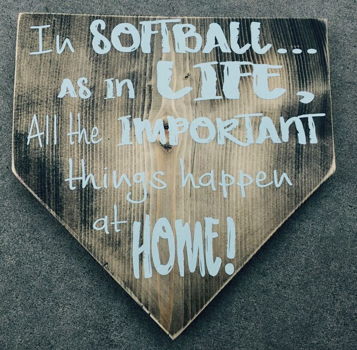 A personal favorite from my Etsy shop https://www.etsy.com/listing/271590510/softball-home-plate