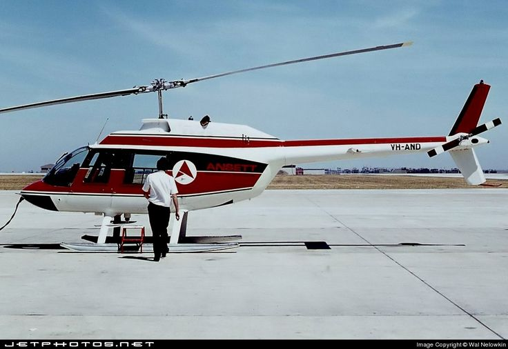 Ansett Airlines Bell 206A JetRanger VH-AND 474 Melbourne Tullamarine Int'l Airport - YMML