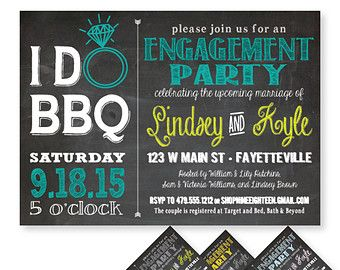I Do BBQ Couples Shower Barbeque Bridal Door NineEighteen Engagement Party