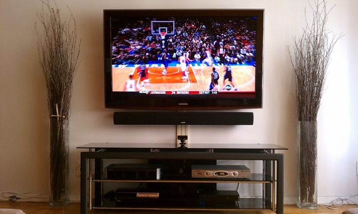 7 best tv mounting images on pinterest tv mounting apartment therapy and arquitetura for Best soundbar for large living room