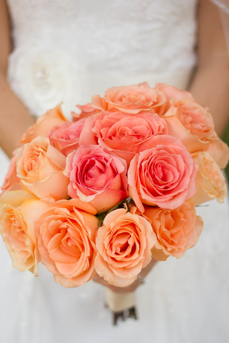 Beautiful coral wedding flowers