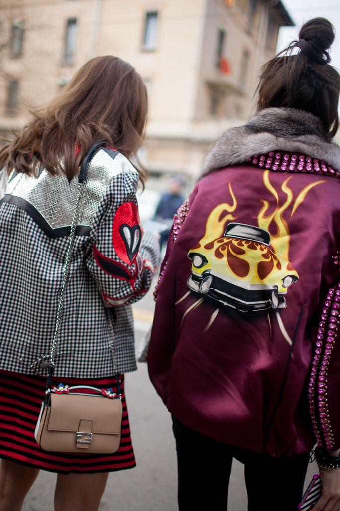 Milan Fashion Week street style   #MFW [Photo: Kuba Dabrowski]