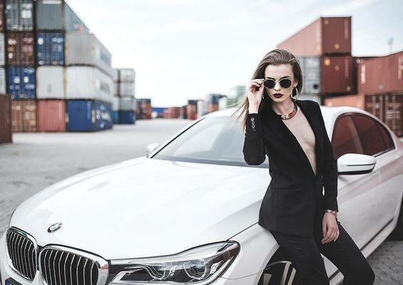 bmw7 bmw bmwworld slovakgirl bmwgram magazine bmwlove roadlife bmwgirl car vehicle transportation system driver drive portrait woman adult indoors steering wheel people one vehicle window direction fast travel seat road business sitting