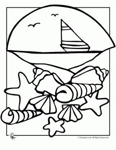 The 25 best Beach coloring pages ideas on Pinterest Summer