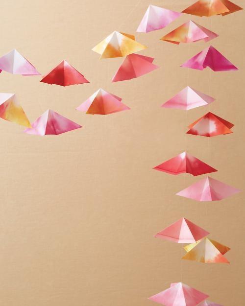 DIY Origami Garland