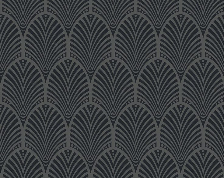 Gatsby Charcoal wallpaper by Albany