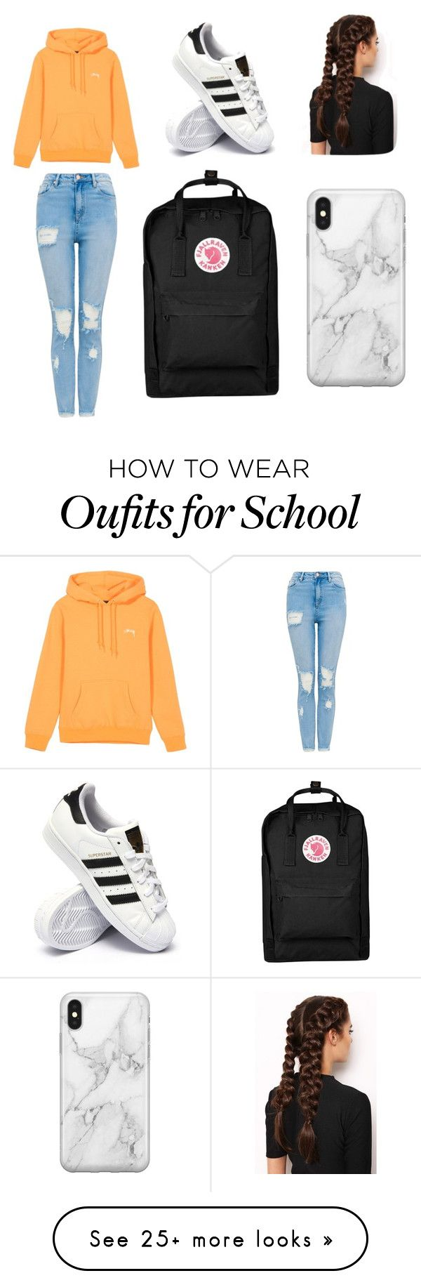 """lazy day @ school"" by rowantace on Polyvore featuring adidas, LullaBellz, Recover and Fjällräven"