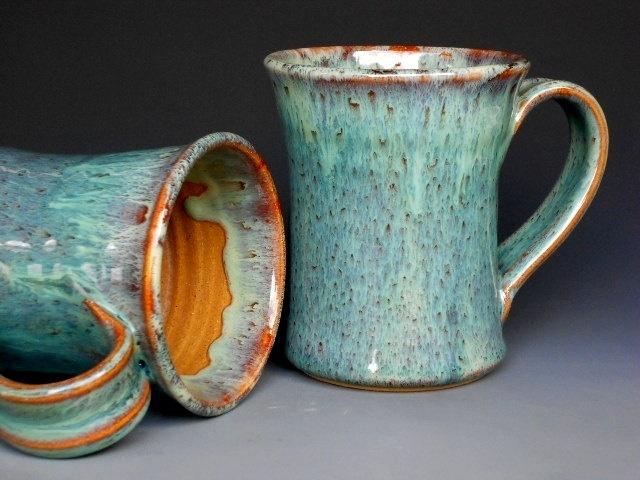 Green Mug Ceramic Coffee Tall By Darshanpottery On Etsy 19 95