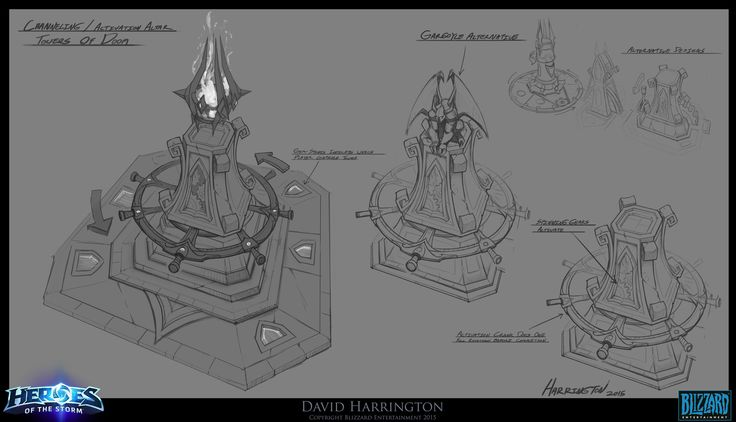 ArtStation - Heroes Of The Storm - Towers Of Doom Altar Concept, David Harrington
