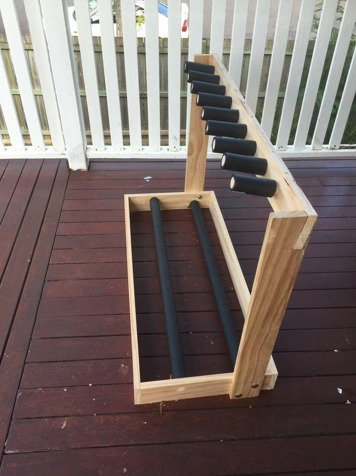 My recent DIY guitar rack build. $20 in bits from the hardware store. #guitar #rack #diy