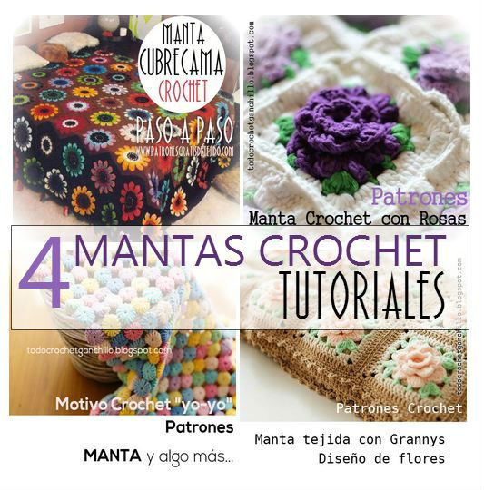 216 mejores im genes sobre crochet mantas mantillas en - Patrones de mantas a crochet ...