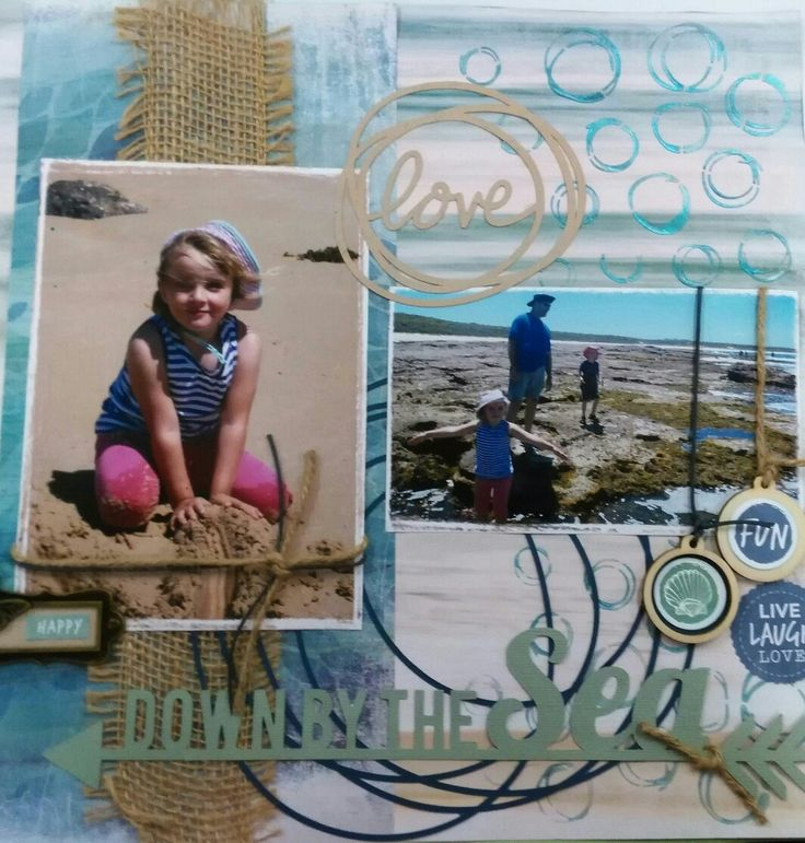 Beach scrapbooking page