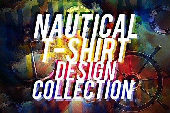 NAUTICAL T-SHIRT DESIGN COLLECTION by Roman Paslavskiy on @creativemarket