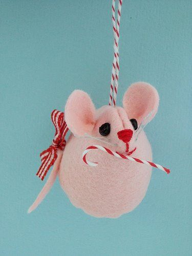 Christmas Mouse Ornaments Craft