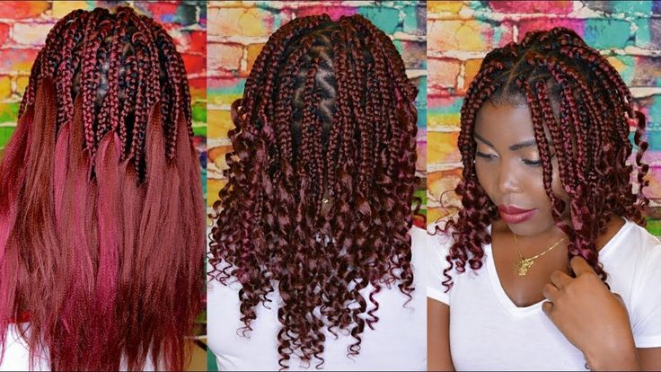How To Do Curly End Box Braids Diy Short Goddess Box