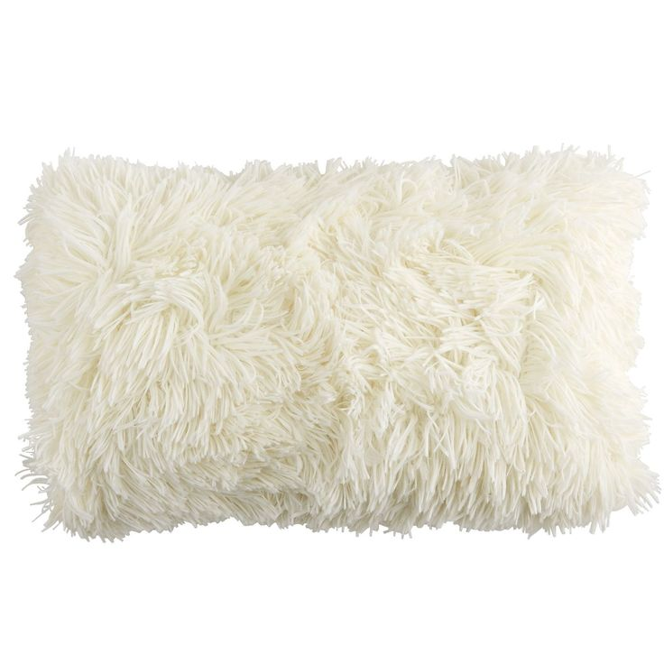 Super-fluffy and fun-furry, the front of this oh-so-soft pillow instantly invites you to get comfortable. And on the reverse? A velvety, plush finish. Either way, it's a cool addition to your sofa or bed.