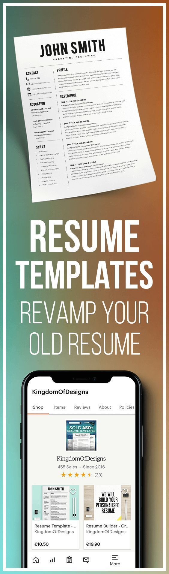 computer programs for resume%0A Resume Template  Resume Builder  CV Template  Free Cover Letter  MS  Word on
