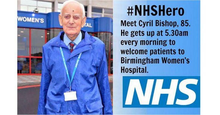 NHS hero volunteers his friendly welcome at Birmingham Women's Hospital every day