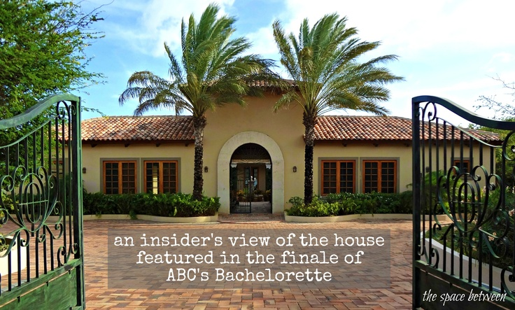 the home in the finale of ABC's Bachelorette in Curacao where Emily's family met the guys