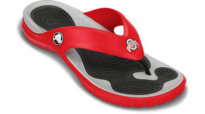 Crocs Red Modi Ohio State Flip College Fan Flip-Flops ...