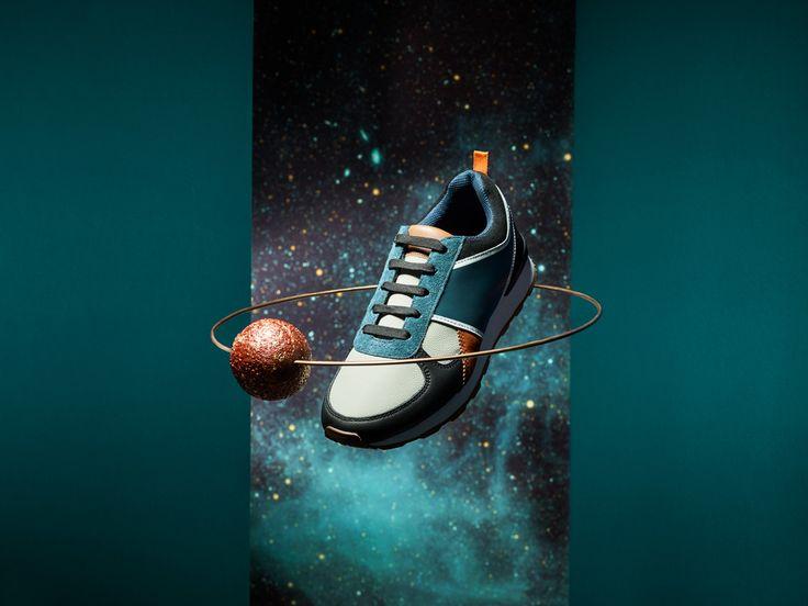 COSMIC STILL LIFE by Maciej Miloch. Sneaker in the space