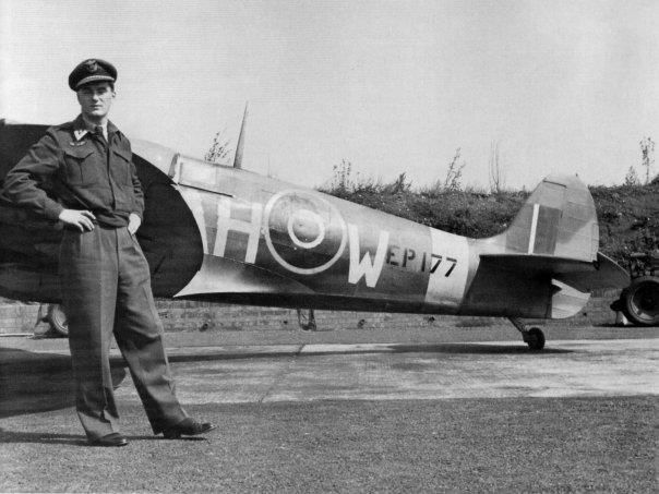 Wilhelm Mohr with his personal Mk C, EP177. Mohr commanded 332 Squadron during 1942. He was injured during the Dieppe raid. Mohr survived the war.