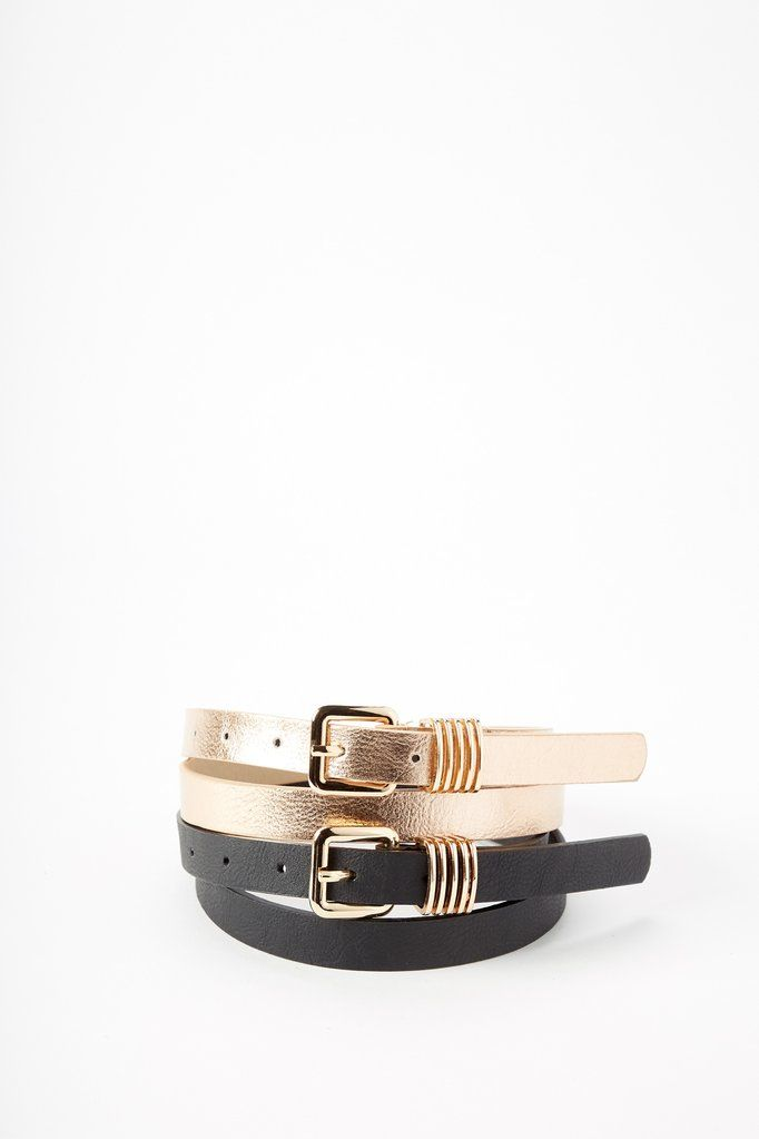 Essential belt from Urban Planet in a faux leather construction. Complete with a metal buckle.100% PUImported by LA Express