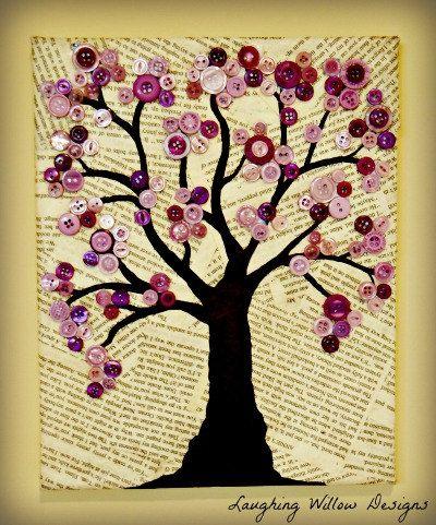 DIY -- Button tree wall art