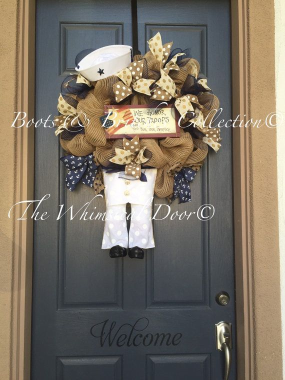 Solider Wreath Military Wreath Patriotic by TheWhimsicalDoor