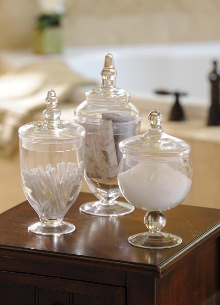 Organize your bathroom accessories in style #kirklands #bathroomluxury