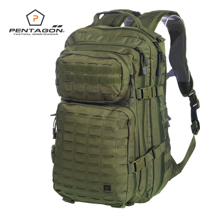 Pentagon Philon Backpack comes with two spacious compartments and hydration bladder section, two front utility pockets, padded back with non-slip pads, adjustable shoulder straps, waist belt and chest strap, and Laser Cut MOLLE webbing. Durable, functional and water-resistant, it's ideal for tactical use or hiking and travel. Only £71.00! Find out more at Military 1st online store. Free UK delivery and returns! Competitive overseas shipping rates.