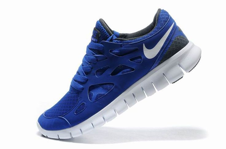 Mens Nike Free Run+ Shoes Blue White