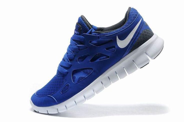 Mens Nike Free Run+ Shoes Blue White