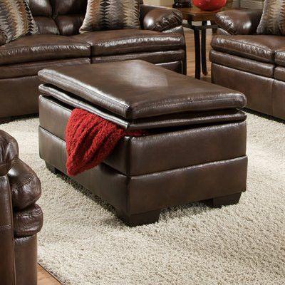 United Furniture Industries 9545-095 Editor Brown Storage Ottoman
