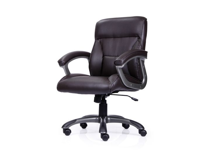 Halo Low Back Leatherette Chair from Durian has ultra soft cushions,side bolsters and lumbar bolster for maximum support.