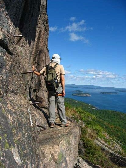 The Precipice Iron Rung Trail, Acadia National Park- Maine ...