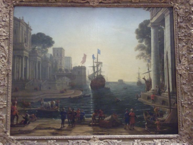 #Art - Ulysses Returning Chryseis to her Father by Claude Lorrain at the Louvre, #Paris, #France