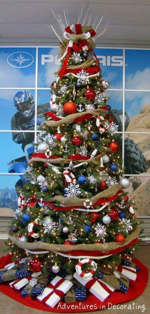 24 best Christmas Trees Red, White and Blue images on ...